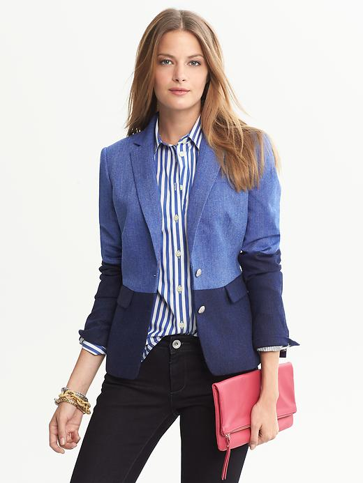 Banana Republic Colorblock Hacking Jacket - Bright blue - Banana Republic Canada