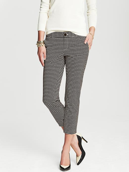 Banana Republic Camden Fit Geo Print Ankle Pant - Black print - Banana Republic Canada
