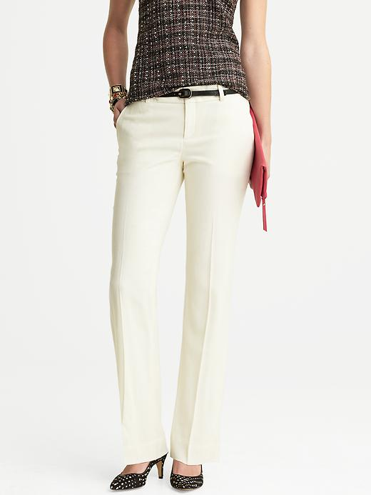 Banana Republic Martin Fit White Flannel Trouser - Cocoon - Banana Republic Canada