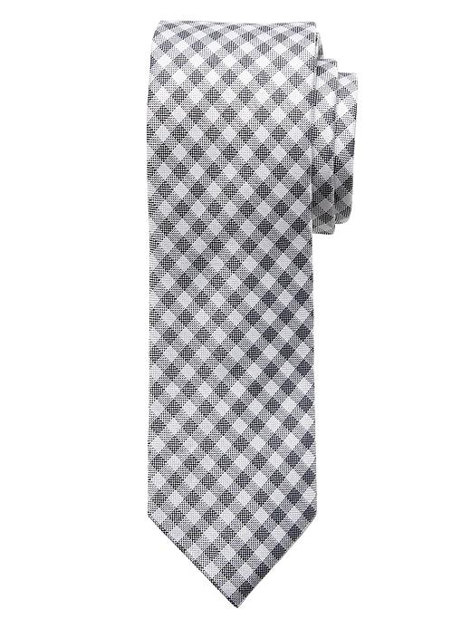 Banana Republic Gingham Silk Tie - White - Banana Republic Canada