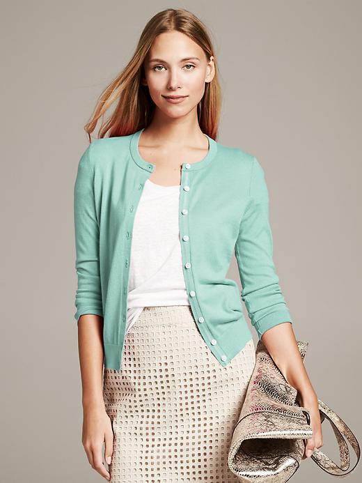 Banana Republic Anna Cardigan - Bay breeze - Banana Republic Canada
