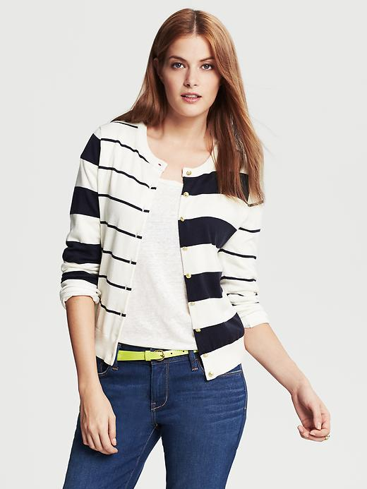 Banana Republic Anna Mixed Stripe Cardigan - Cocoon - Banana Republic Canada