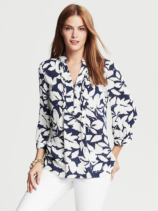 Banana Republic Leaf Print Blouse - Cocoon - Banana Republic Canada