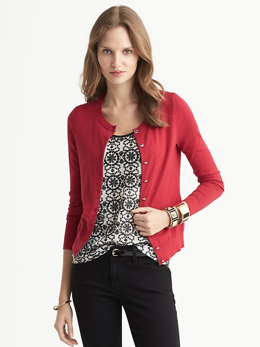 Banana Republic Anna Merino Wool Cardigan - Lasalle red - Banana Republic Canada