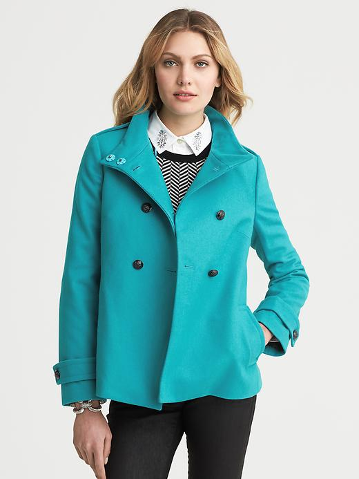 Banana Republic Short Swing Coat - Totally turquoise - Banana Republic Canada