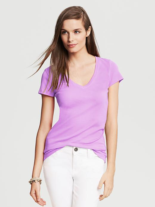 Banana Republic Timeless V Neck Tee - Pale hyacinth - Banana Republic Canada