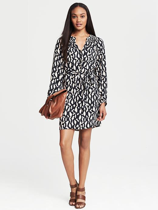 Banana Republic Bold Print Shirtdress - Candy caramel - Banana Republic Canada