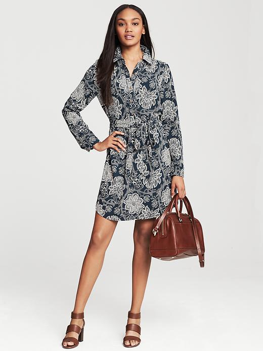 Banana Republic Navy Floral Shirtdress - True navy - Banana Republic Canada
