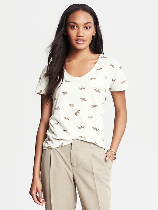 Banana Republic Heritage Zebra Graphic Tee - Mocha mousse - Banana Republic Canada