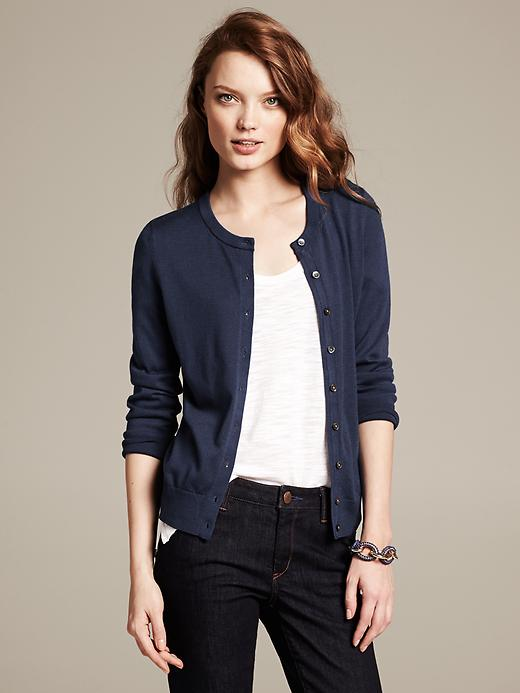 Banana Republic Anna Cardigan - Classic navy - Banana Republic Canada