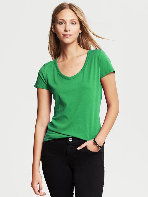 Banana Republic City Tee - Emerald - Banana Republic Canada