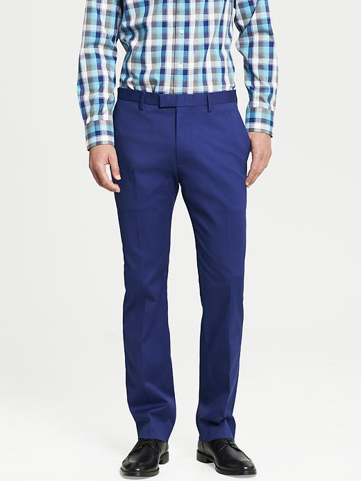 Banana Republic Modern Slim Fit Cotton Dress Pant - Underwater blue - Banana Republic Canada