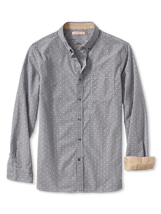 Banana Republic Heritage Dobby Gingham Button Down Shirt - Cocoon - Banana Republic Canada