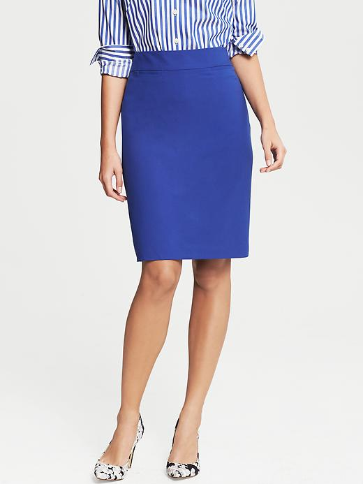 Banana Republic Cobalt Lightweight Wool Pencil Skirt - Cobalt blue - Banana Republic Canada
