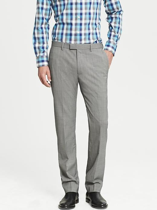 Banana Republic Modern Slim Fit Khaki Wool Dress Pant - Light khaki - Banana Republic Canada