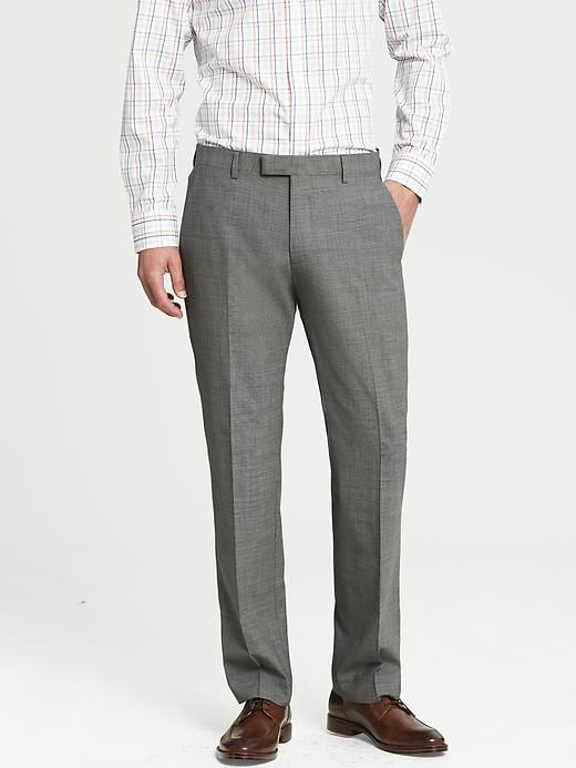 Banana Republic Tailored Fit Textured Grey Wool Suit Trouser - Light grey - Banana Republic Canada