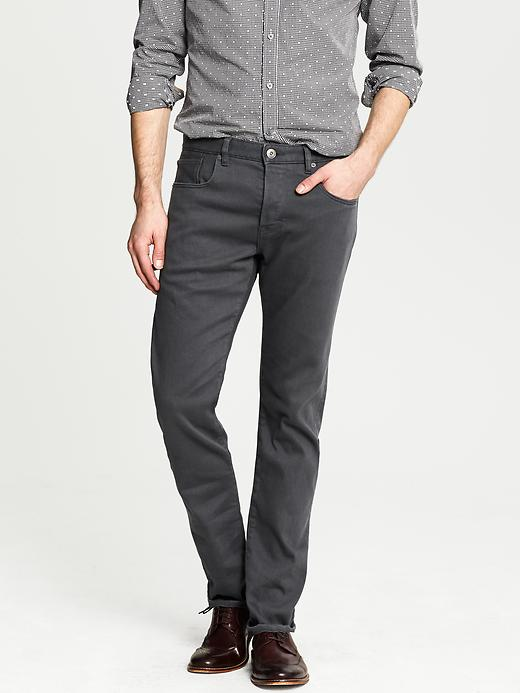 Banana Republic Slim Fit Grey Jean - Dusty grey - Banana Republic Canada