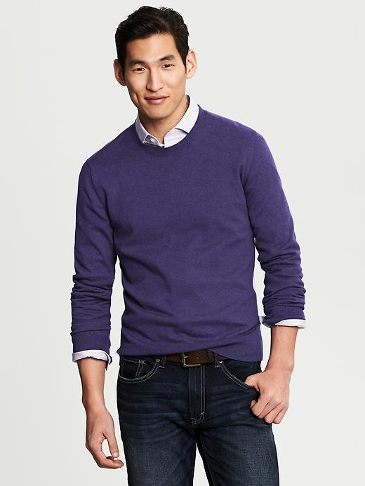 Banana Republic Silk/Cotton/Cashmere Crewneck - Violetta - Banana Republic Canada
