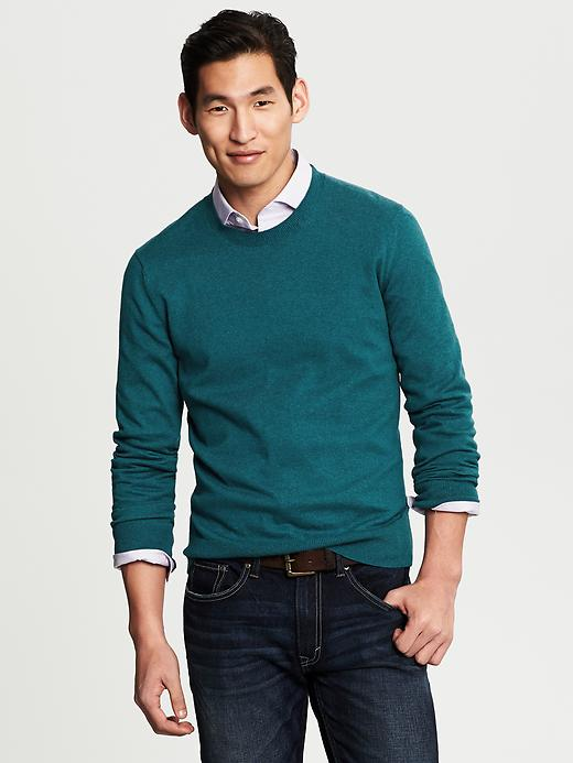 Banana Republic Cotton/Cashmere Crew - Dark teal - Banana Republic Canada