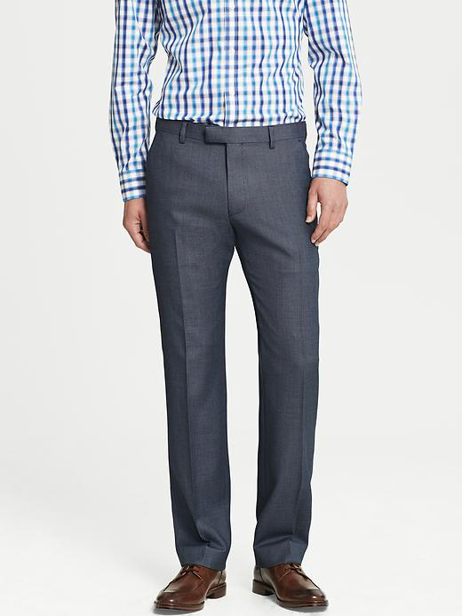 Banana Republic Tailored Fit Textured Navy Wool Suit Trouser - Blue dot - Banana Republic Canada