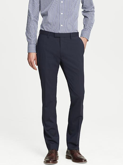 Banana Republic Modern Slim Fit Navy Wool Dress Pant - Dark navy - Banana Republic Canada