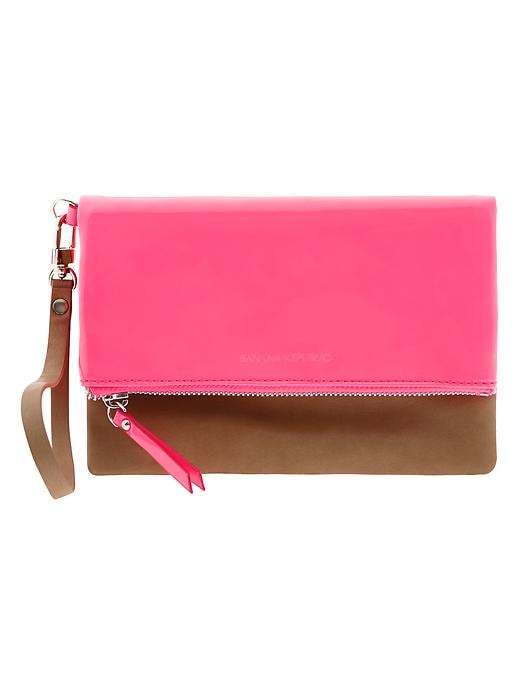 Banana Republic Sophia Foldover Wristlet - Hot pink - Banana Republic Canada