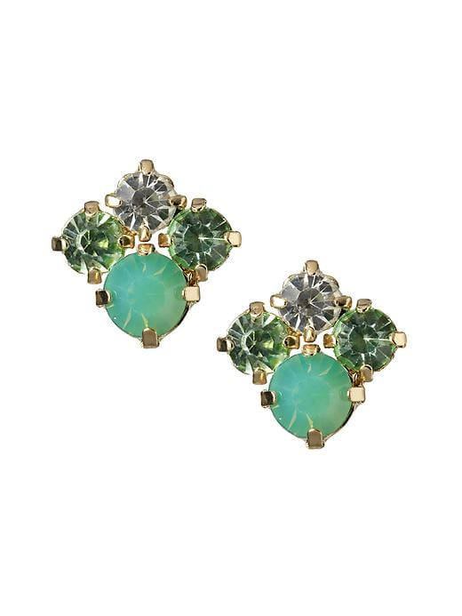 Banana Republic Statement Stud Earring - Aqua/blue