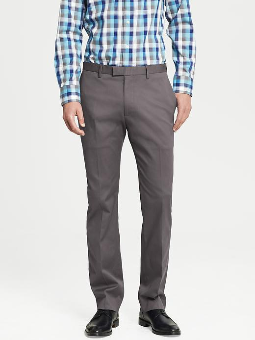 Banana Republic Modern Slim Fit Cotton Dress Pant - Urban gray - Banana Republic Canada
