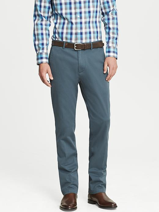 Banana Republic Kentfield Vintage Straight Fit Cotton Pant - Blue steel - Banana Republic Canada