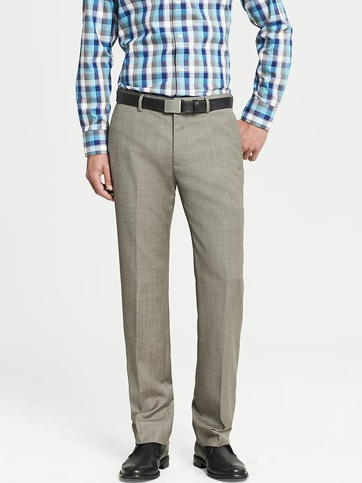 Banana Republic Tailored Slim Fit Taupe Wool Dress Pant - Taupe gray - Banana Republic Canada
