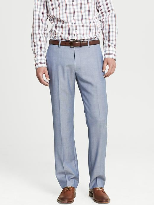 Banana Republic Tailored Slim Fit Blue Wool Dress Pant - Bright blue - Banana Republic Canada