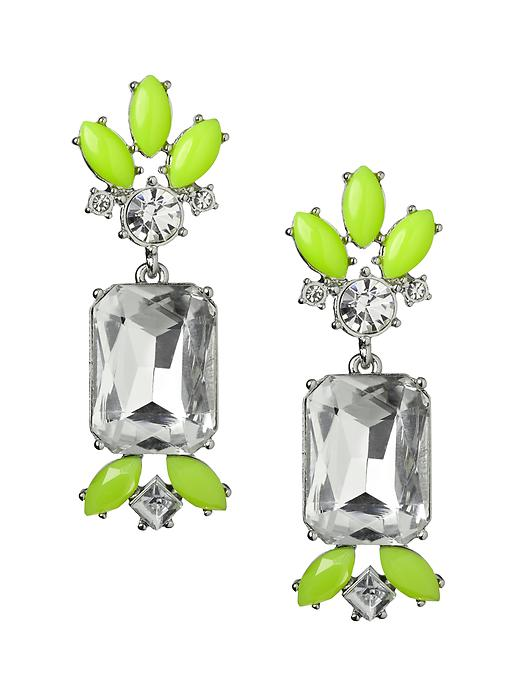 Banana Republic Acid Brights Statement Earring - Acid green - Banana Republic Canada