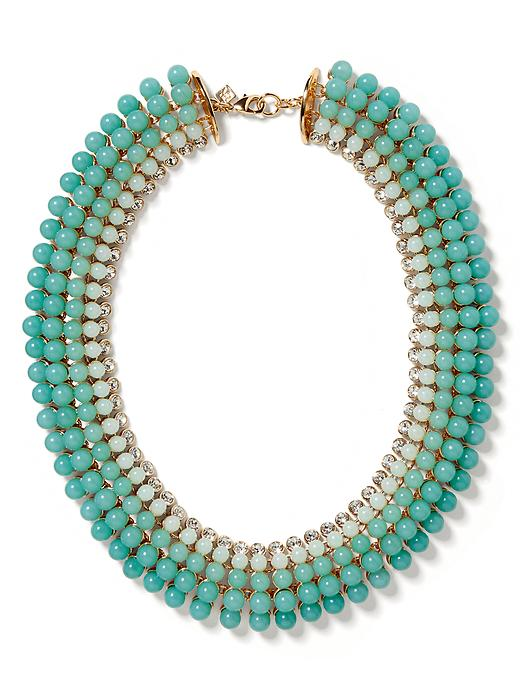 Banana Republic Aqua Ombre Necklace - Aqua/blue - Banana Republic Canada