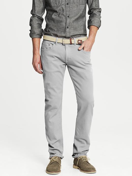 Banana Republic Vintage Straight Fit Five Pocket Pant - Gray literature - Banana Republic Canada