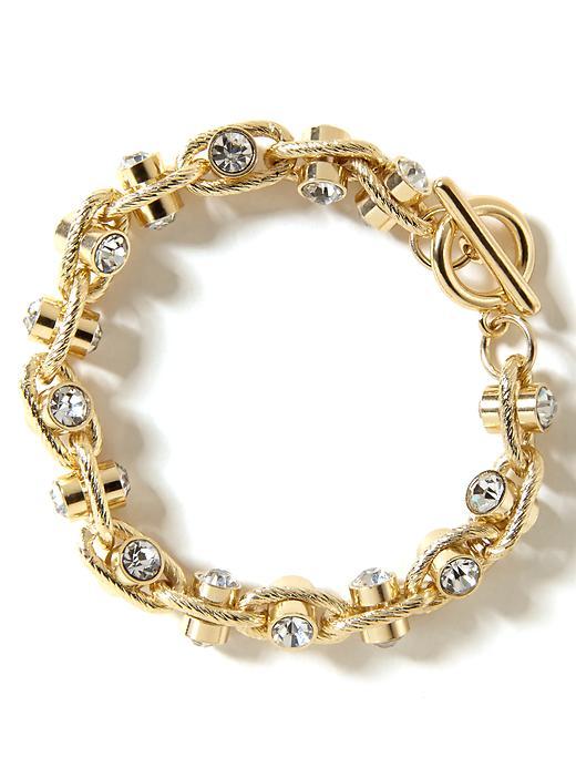 Banana Republic Crystal Toggle Bracelet - Gold - Banana Republic Canada