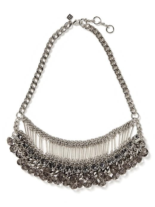 Banana Republic Stine Fringe Necklace - Silver - Banana Republic Canada