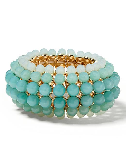 Banana Republic Aqua Ombre Stretch Bracelet - Aqua/blue - Banana Republic Canada