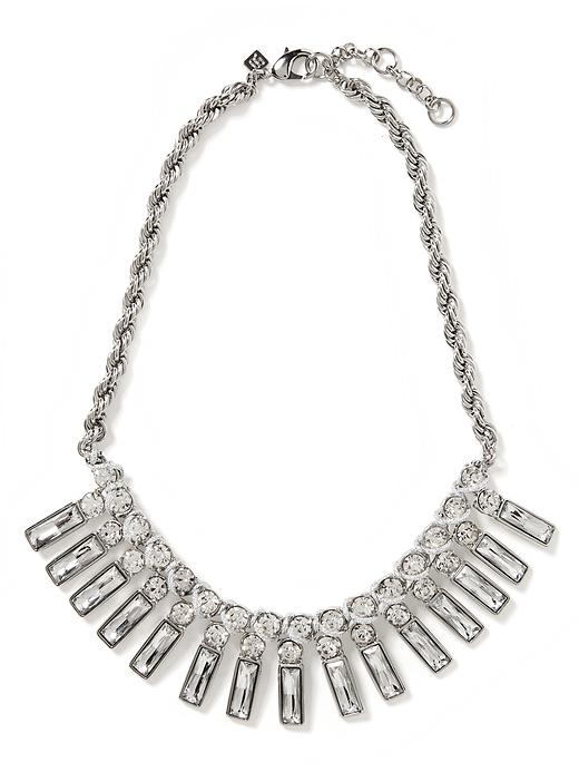Banana Republic Tutti Frutti Baguette Necklace - Clear crystal - Banana Republic Canada