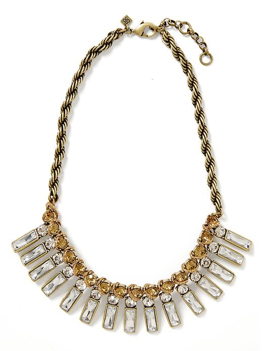 Banana Republic Tutti Frutti Baguette Necklace - Brass - Banana Republic Canada