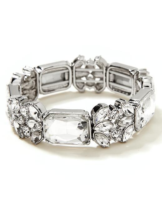 Banana Republic Crystal Stretch Bracelet - Clear crystal - Banana Republic Canada