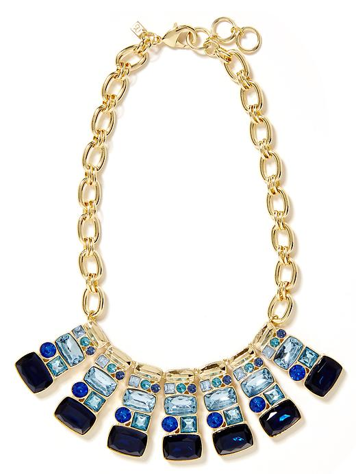Banana Republic Blue Crush Statement Necklace - Blue - Banana Republic Canada