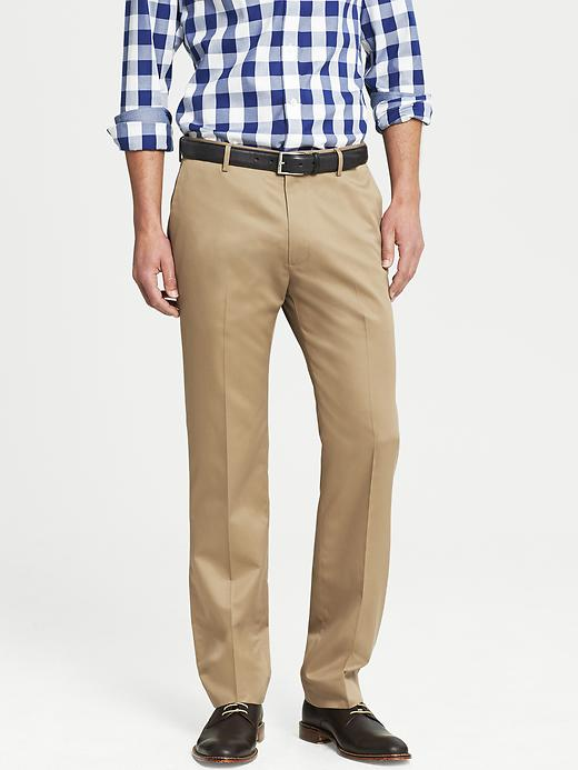 Banana Republic Tailored Slim Non Iron Cotton Pant - Acorn - Banana Republic Canada