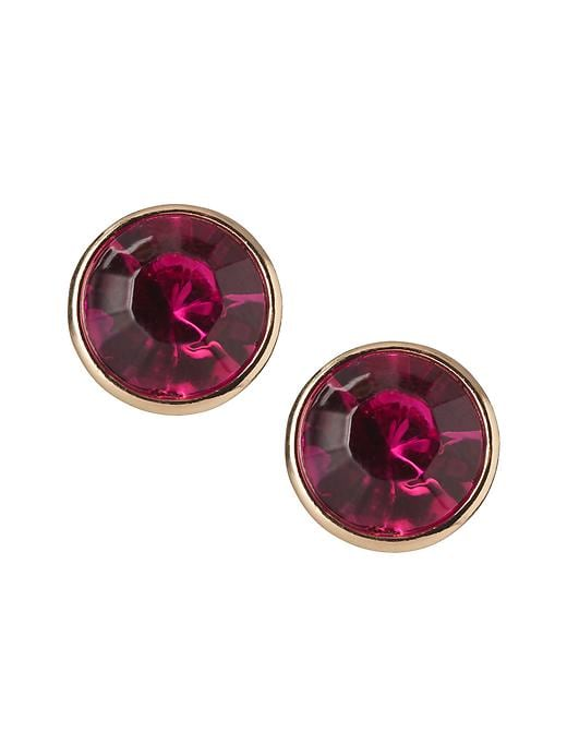 Banana Republic Circle Stud Earring - Fuschia - Banana Republic Canada