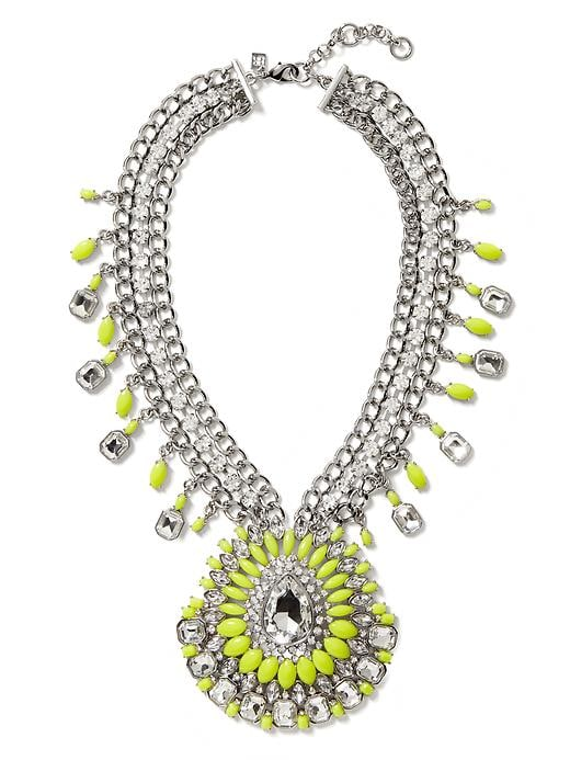 Banana Republic Acid Brights Statement Necklace - Acid green - Banana Republic Canada