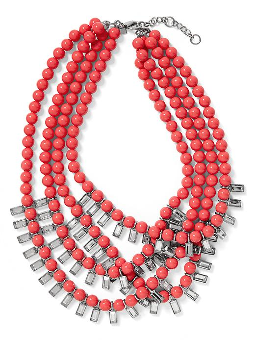Banana Republic Tutti Frutti Bauble Necklace - Coral - Banana Republic Canada