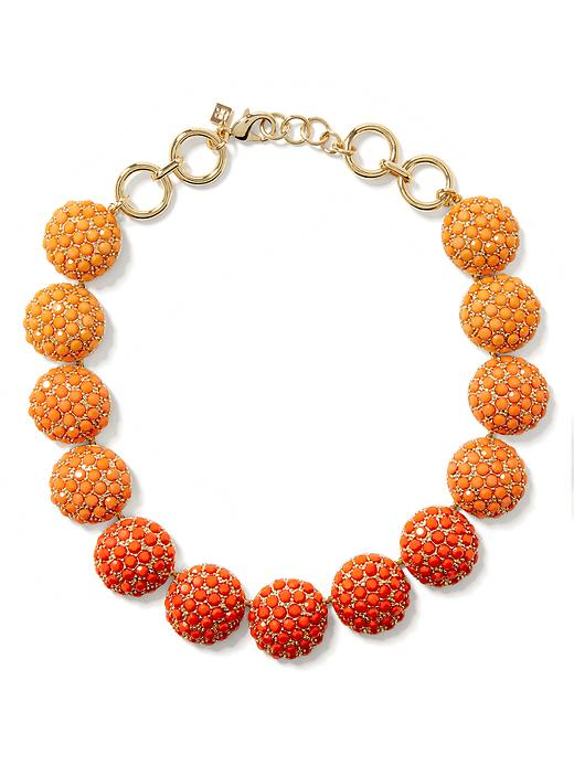 Banana Republic Poppy Statement Necklace - Coral - Banana Republic Canada