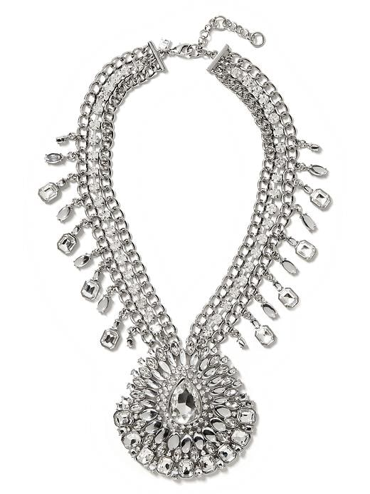 Banana Republic Acid Brights Statement Necklace - Clear crystal - Banana Republic Canada