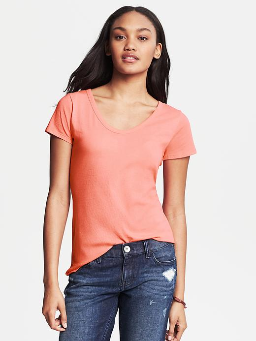 Banana Republic City Tee - Blood orange - Banana Republic Canada