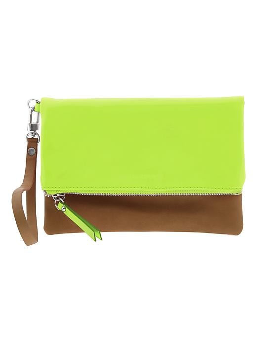 Banana Republic Sophia Foldover Wristlet - Yellow - Banana Republic Canada