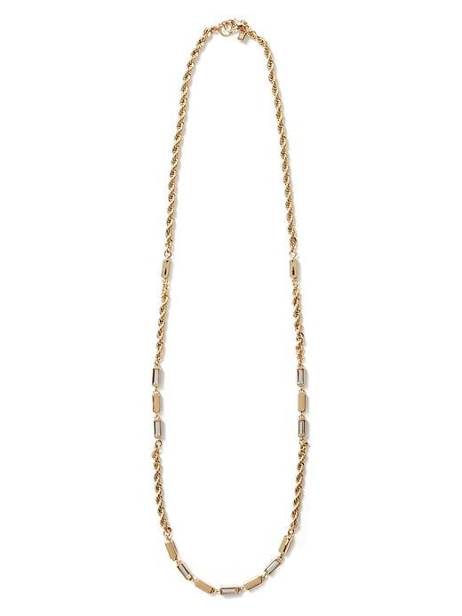 Banana Republic Glimmer Glamour Long Layer Necklace - Gold - Banana Republic Canada